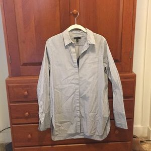 J-Crew Striped Button Up